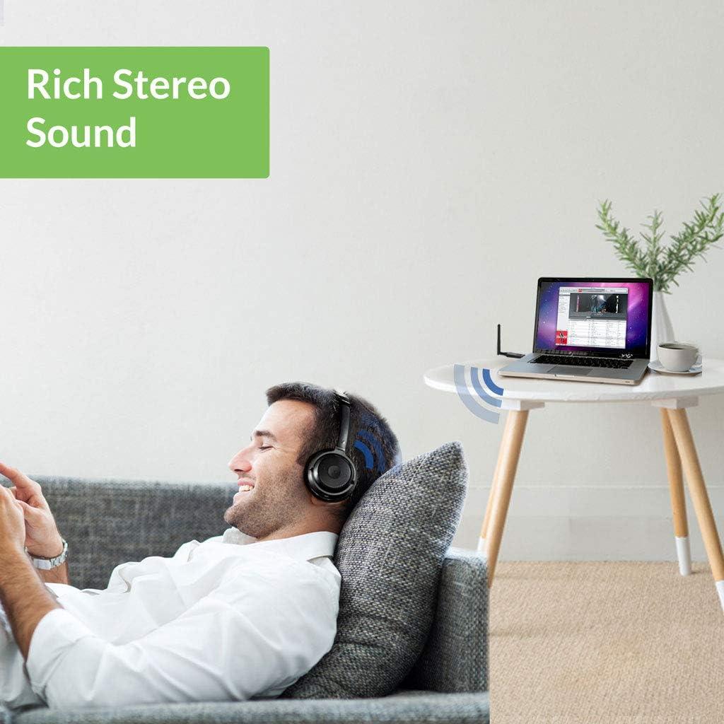 50M drahtloser aptX Audio-Dongle mit hervorragendem Klang und geringer Latenz f/ür Kopfh/örer//Lautsprecher Avantree DG60 USB Bluetooth 5.0-Audioadapter mit gro/ßer Reichweite f/ür PC PS4 Mac Laptop