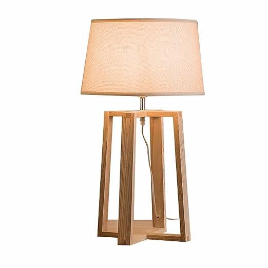 Lampara de mesa Lampara vintage de madera madera cuerpo de la ...