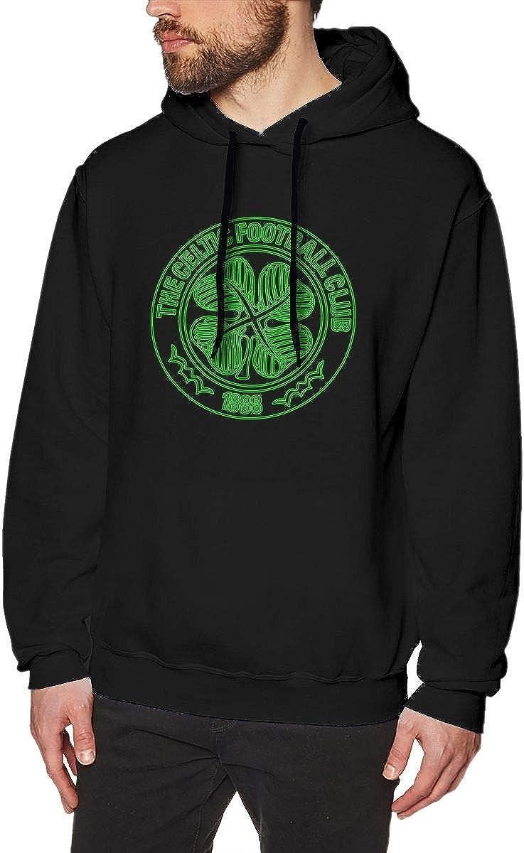 HorseTe Mens Sweatshirts Fashion The Celtic Football Club Mens Hoodies Black