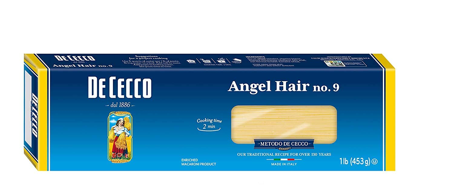De Cecco Pasta, Angel Hair, 16 Ounce (Pack of 3)