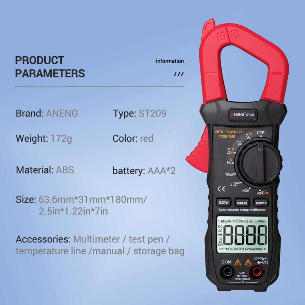 Multímetro digital, 6000 cuentas True RMS - Tensiómetro digital ...