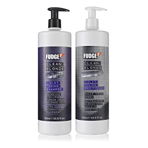 FUDGE CLEAN BLONDE VIOLET TONING SHAMPOO 1000ML & CONDITIONER 1000ML DUO PACK