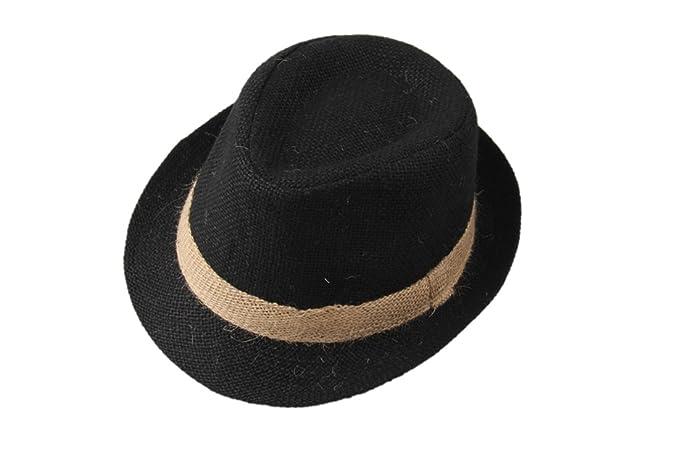 08dd836b55c Amazon.com  MOMOCHAO Kids Children Boys Girls Top Fedora Cotton Hat Sun Cap  Jazz Dance  Clothing