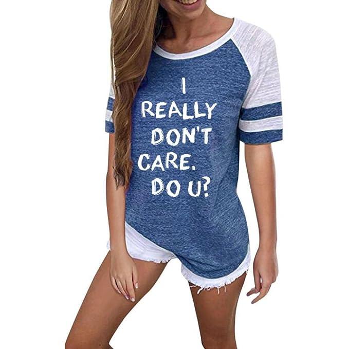 AIMEE7 Camisetas Mujer Verano Camisetas Mujer Manga Corta Blusas Mujer Manga Corta Elegante Camisetas Casual Mujer