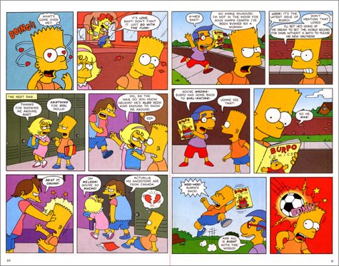 Comic simpsons strip