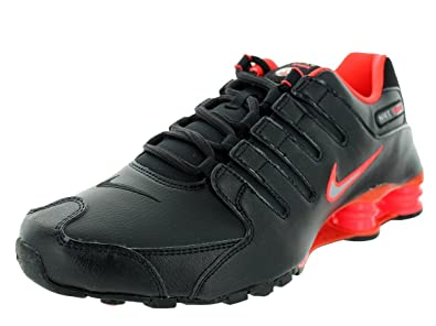 Nike Men's Shox NZ Black/Mtllc Silver/Brght Crmsn Running Shoe 8 Men US