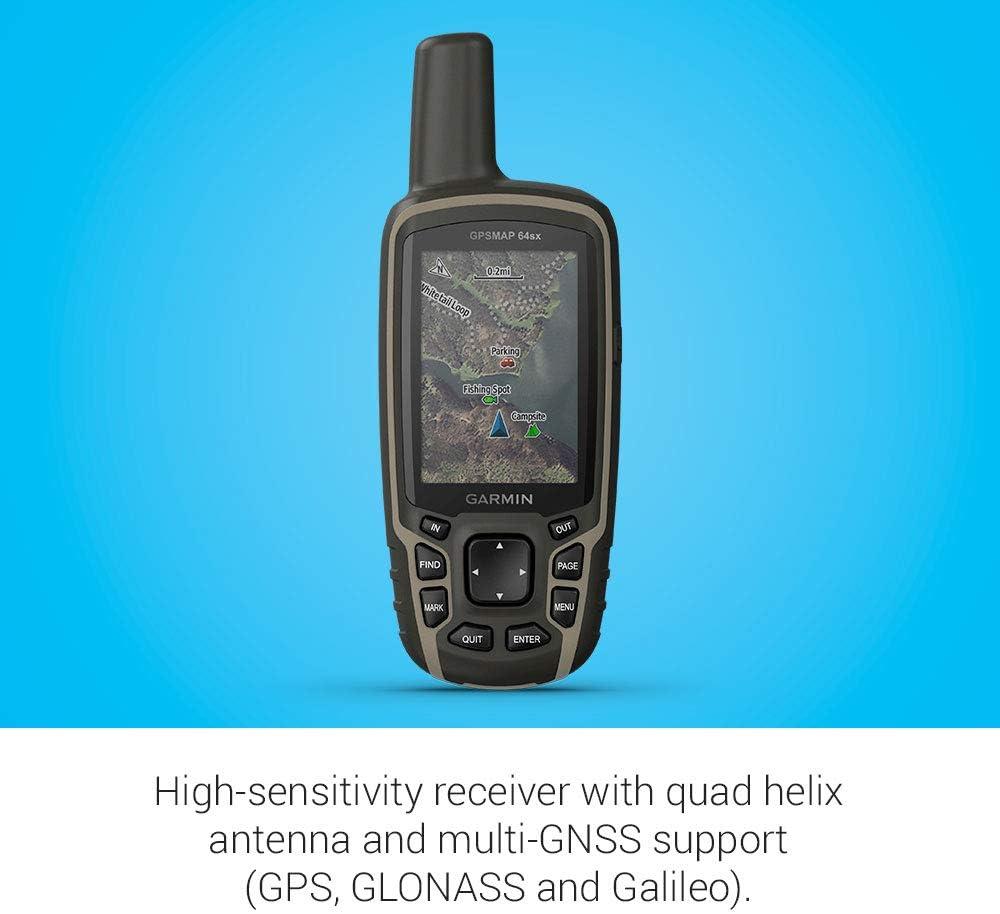 Garmin GPSMAP 64sx rastreador GPS Personal Negro, Verde 8 GB - Rastreadores GPS (TFT, 6,6 cm (2.6