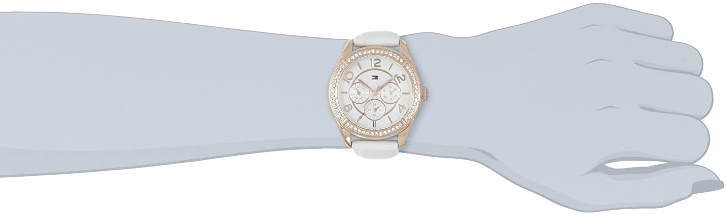 Amazon.com: Tommy Hilfiger Womens 1781251 Sport Rose Gold White Leather Multi-Function Watch: Tommy Hilfiger: Watches