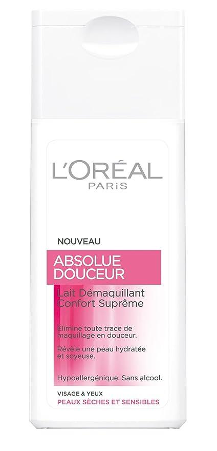 Leche desmaquillante LOréal Paris Sublime & Suave para cara y ojos. Ideal para