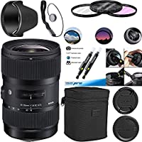 Sigma 18-35mm f/1.8 DC HSM Art Lens for Canon - Deal-Expo Essential Accessories Bundle