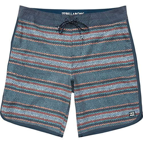 Billabong Men's 73 Lo Tides Lineup Boardshorts Indigo Stripe 38 -