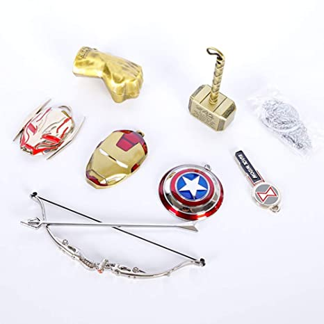 PIN Superhéroe Cosplay-7Pcs the Avengers Hulk Thor Iron Man ...