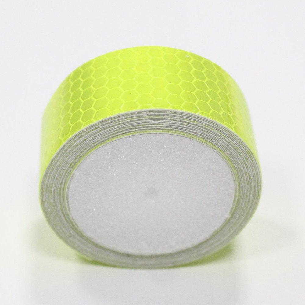 Maiqiken 2.5/cm x 2.5/m riflettore nastro verde fluorescente ad alta intensit/à di sicurezza marcatura nastro per bicicletta Cars Trucks attenzione tape