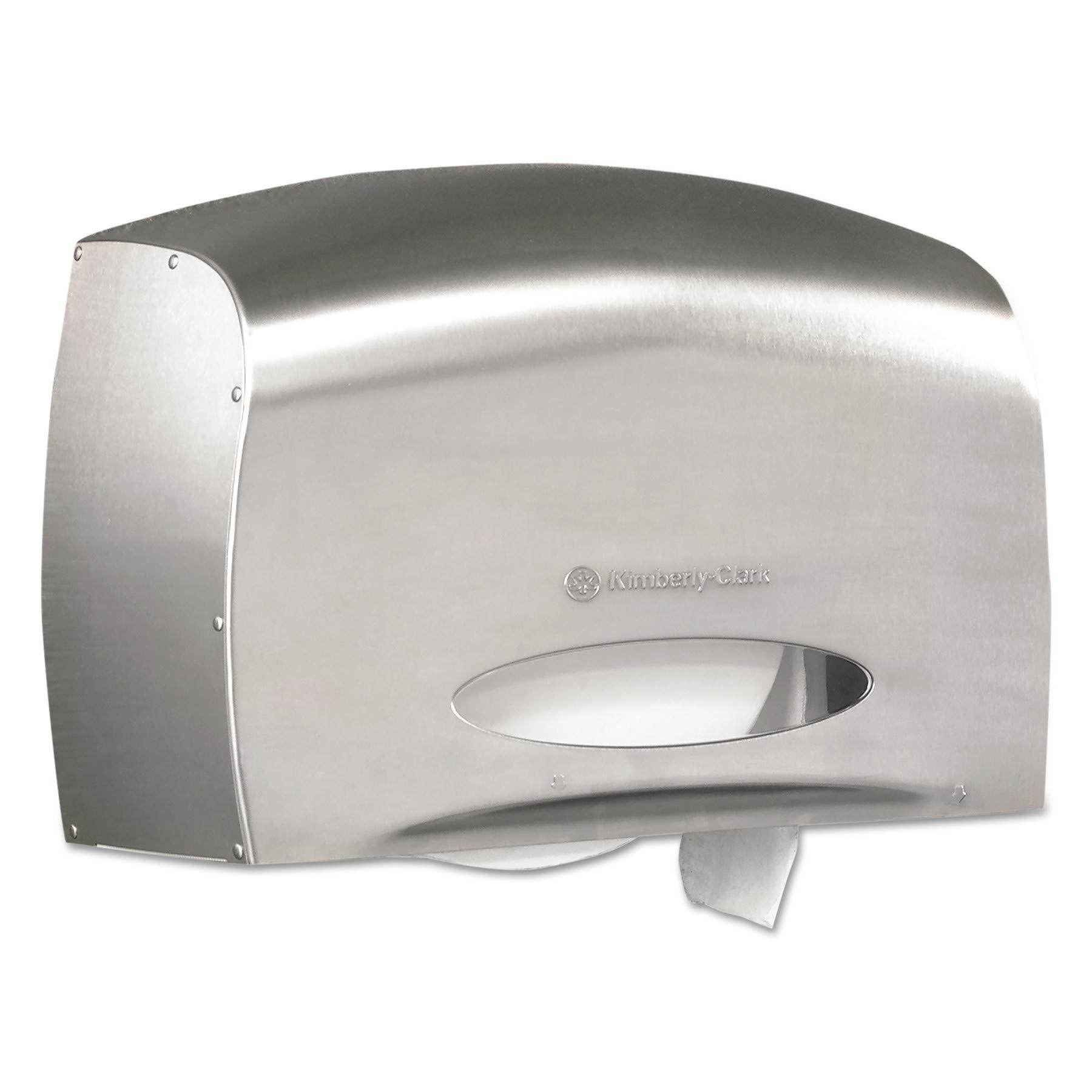 Kimberly-Clark Professional 09601 Coreless JRT Jr. Bath Tissue Dispenser, EZ Load, 6x9.8x14.3, Stainless Steel by Kimberly-Clark Professional