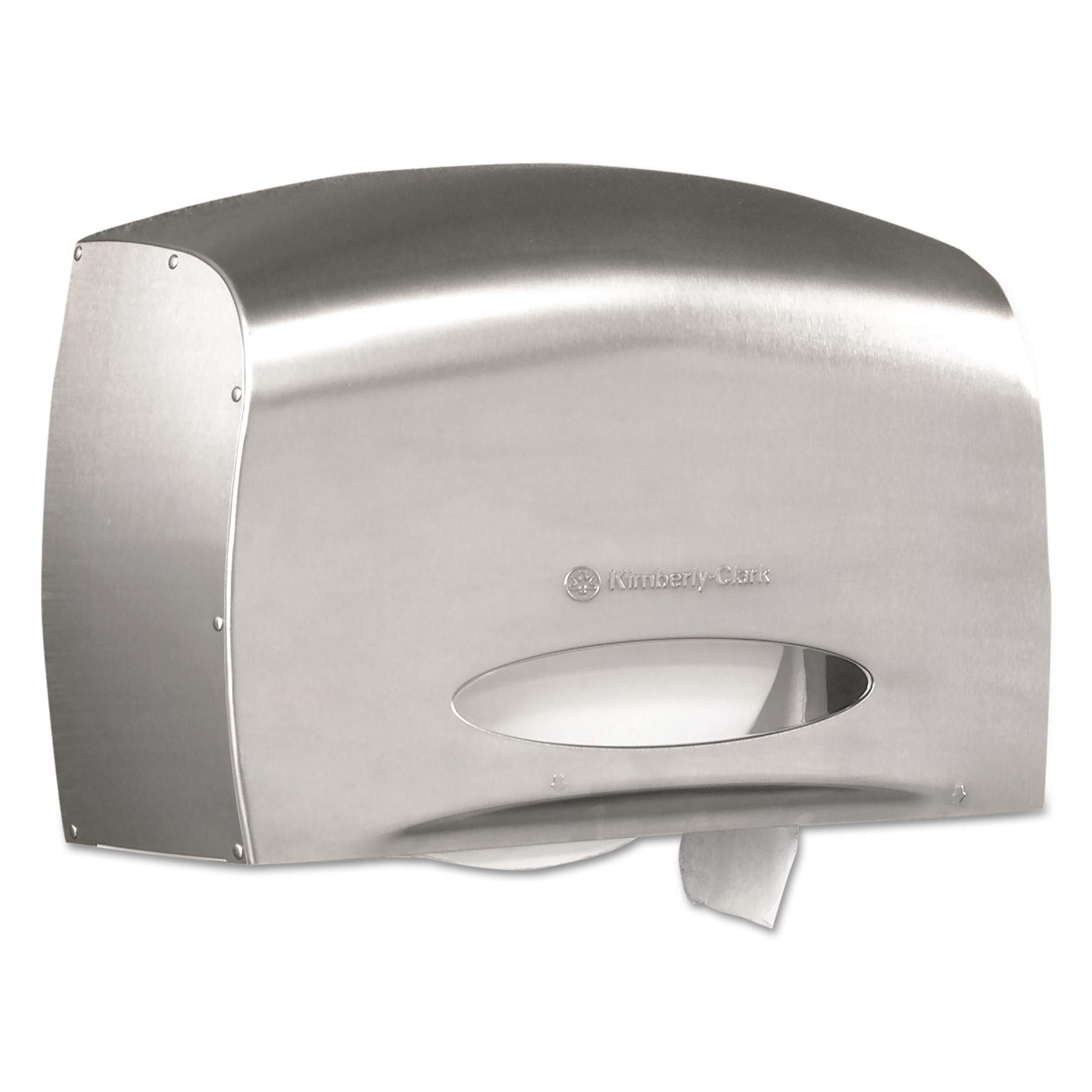 Kimberly-Clark Professional 09601 Coreless JRT Jr. Bath Tissue Dispenser, EZ Load, 6x9.8x14.3, Stainless Steel