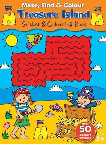 Download Maze Find and Colour Book - Treasure Island pdf epub