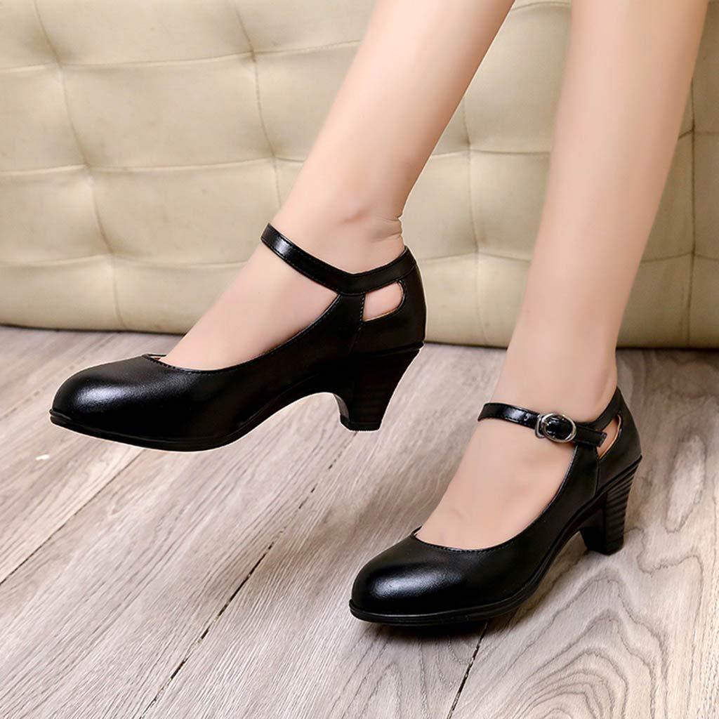 ZARLLE/_Zapatos Zapatos de Tac/ón para Mujer Baile Latino de Tango para Mujer Sal/ón de Baile Punta Cerrada Fiesta Noche Zapatos de Boda