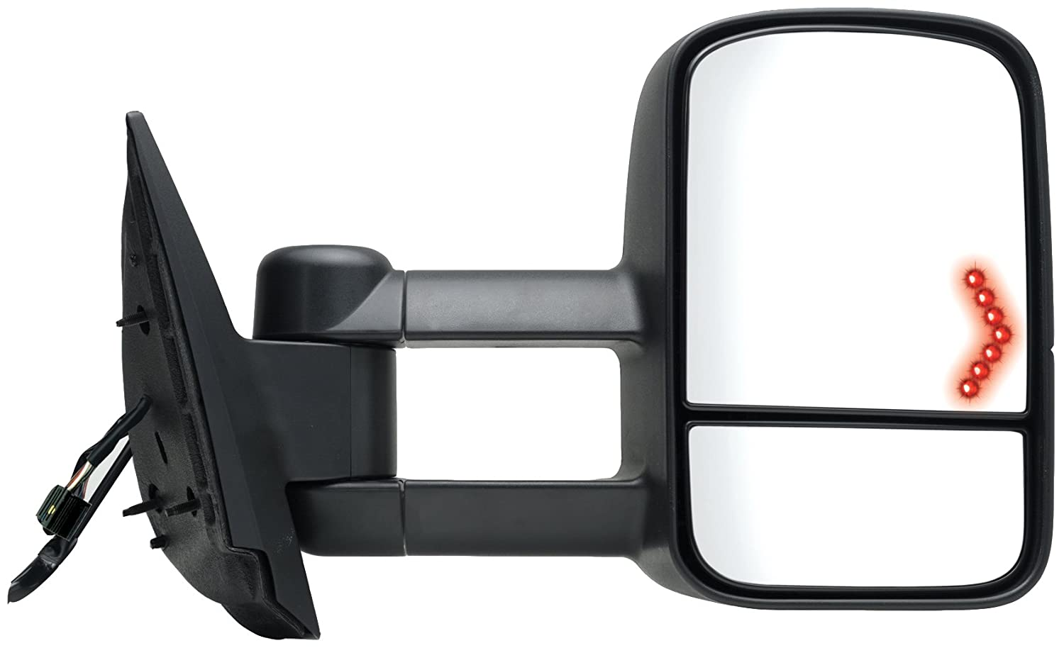 Amazon.com: Fit System 62093G Chevrolet/GMC/Cadillac Passenger Side  Replacement Towing Mirror with Dual Glass and Turn Signal: Automotive