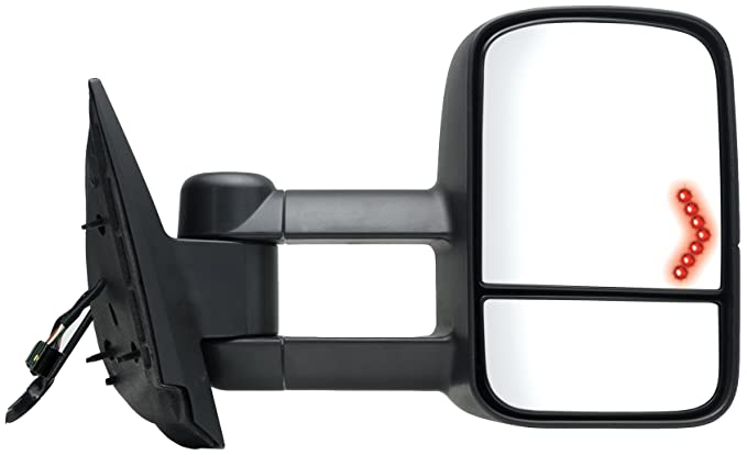 Fit System 62093G Chevrolet/GMC/Cadillac Passenger Side Replacement Towing Mirror with Dual Glass and Turn Signal by Fit System: Amazon.es: Coche y moto