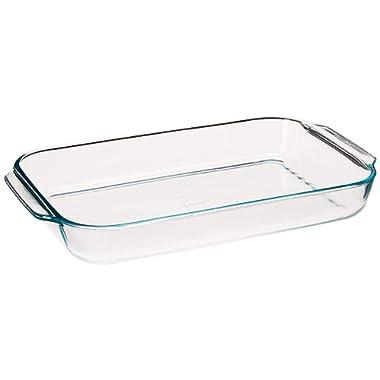 """Pyrex Basics 4.8-qt (10"""" x 15"""") Oblong Baking Dish"""