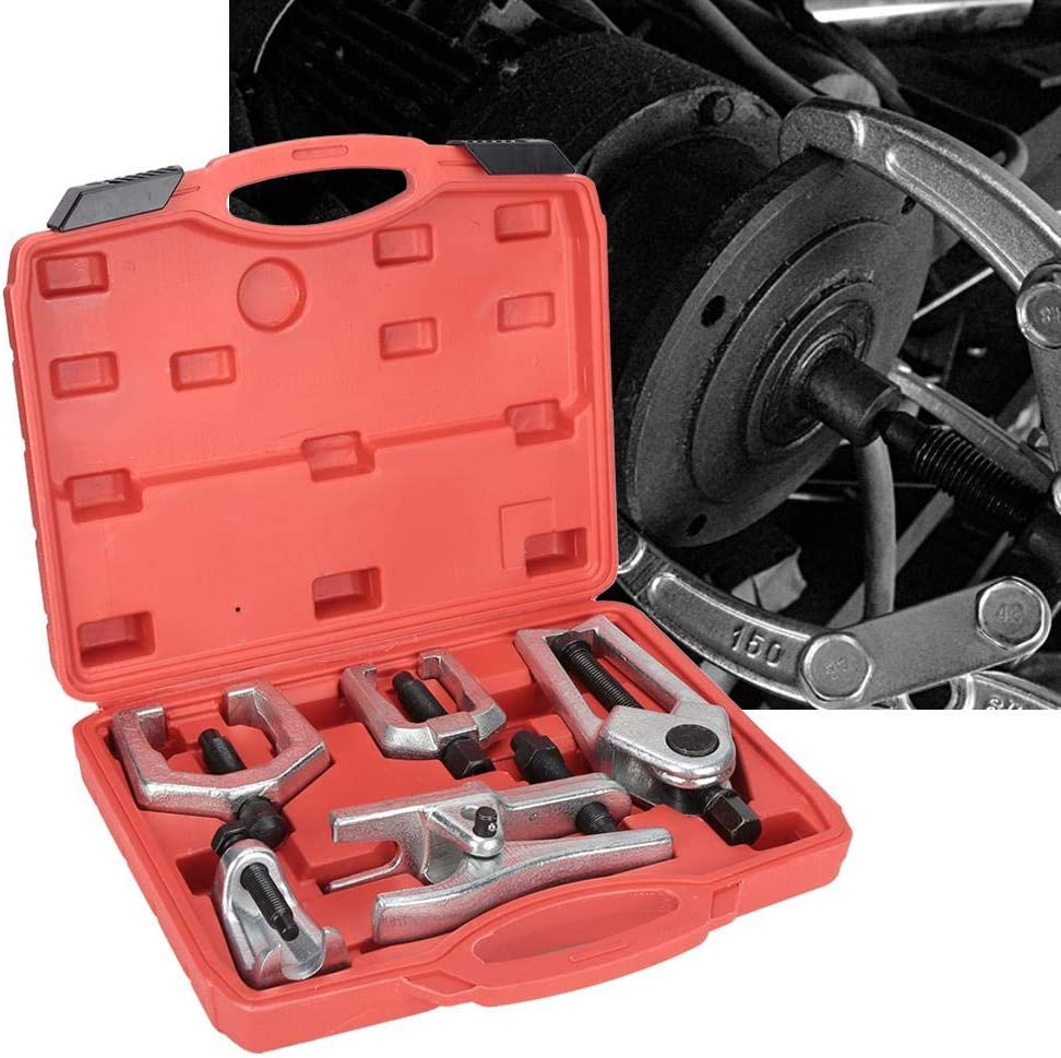 5-in-1 Ball Joint Separator Kit Pitman Arm Puller Tie Rod End Tool Set for Front End Service Arm Ball Joint Separator Remover Puller Splitter Removal Kit
