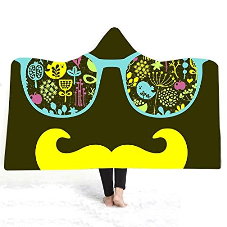 YiWu Gafas Barba Impresa con Capucha Manta de baño de Doble ...