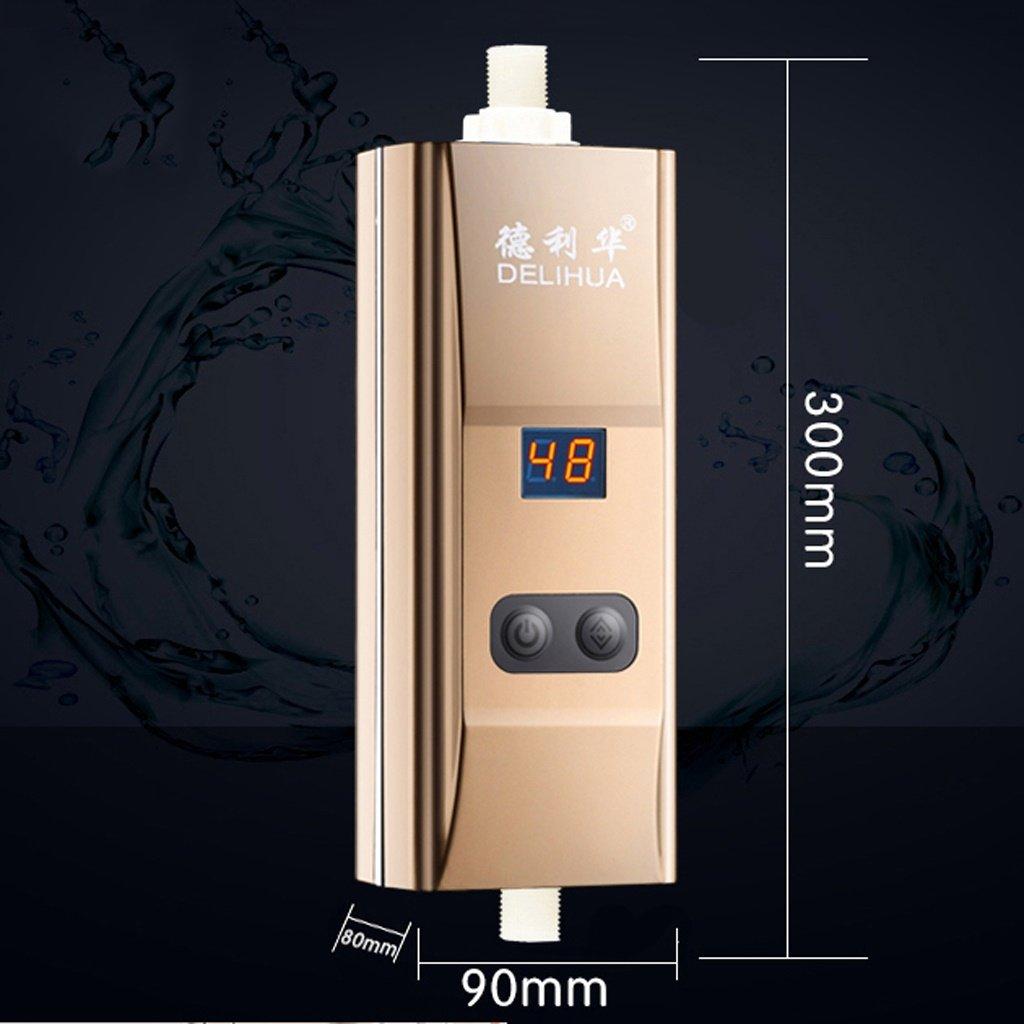 LJ Calentador de agua eléctrico Calentador de agua instantáneo Calentador de agua sin tanque para cocina 220V (Color : Oro) : Amazon.es: Bricolaje y ...
