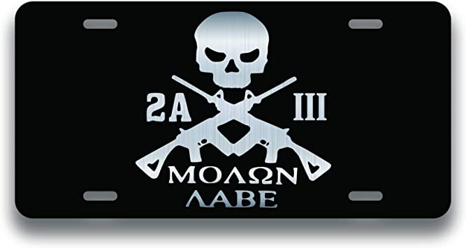 SECOND 2ND AMENDMENT Licence Plate Don/'t tread On Me Car Truck 3/% America USA