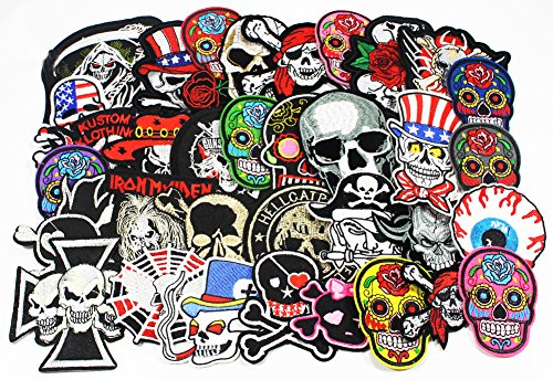 24pcs-lot-mixed-5-12cm-iron-on-embroidered-patches-skull-style-appliques