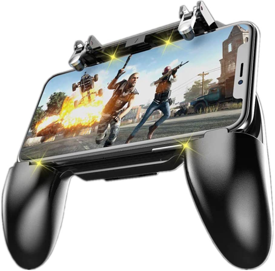 Coobile Controlador De Juego Móvil Para Pubg Mobile Controller L1r1 Mobile Game Trigger Joystick Gamepad Para 4 6 5 Ios Y Teléfono Android W10 Update Computers Accessories