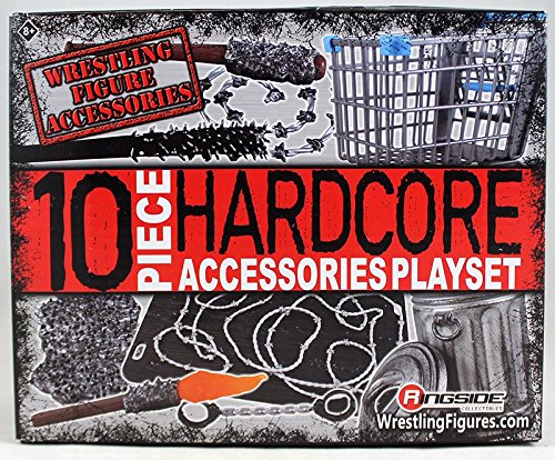 - Ringside 10-Piece Hardcore Accessories Playset Collectibles Exclusive WWE Toy Wrestling Action Figure Accessory Set