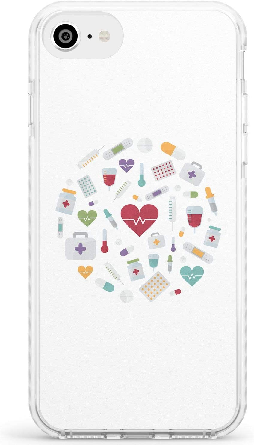 Médico Diseño Inspirado Iconos Médicos Caja del teléfono de impacto para iPhone 6, for iPhone 6s | Protector Doble capa Parachoque TPU silikon Cubrir Modelo Impreso | Enfermera Enfermería Médico Médic