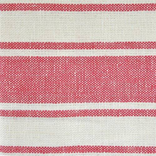 DII 100% Cotton, Ultra Absorbent, Drying & Cleaning, Everyday Kitchen Basic, Classic Stripe Dishtowel, 20 x 28, Set of 8- Red by DII (Image #4)