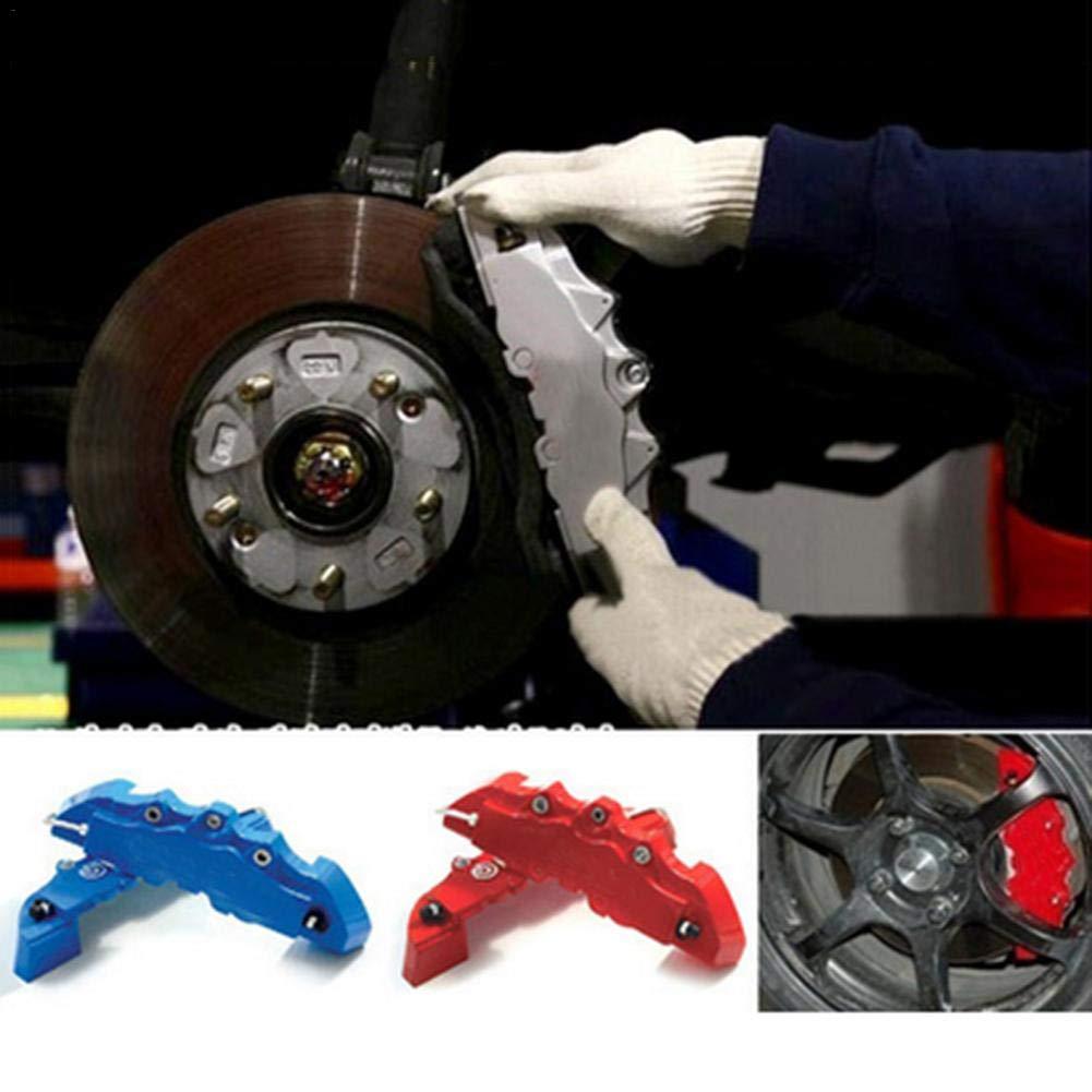 Welcometo Car Modified Mozzo Ruota Coperchio Decorazione Freno Copertura 3D Pinze Freno Abalone Copri pinze Copertine Piccolo-Blu Grand
