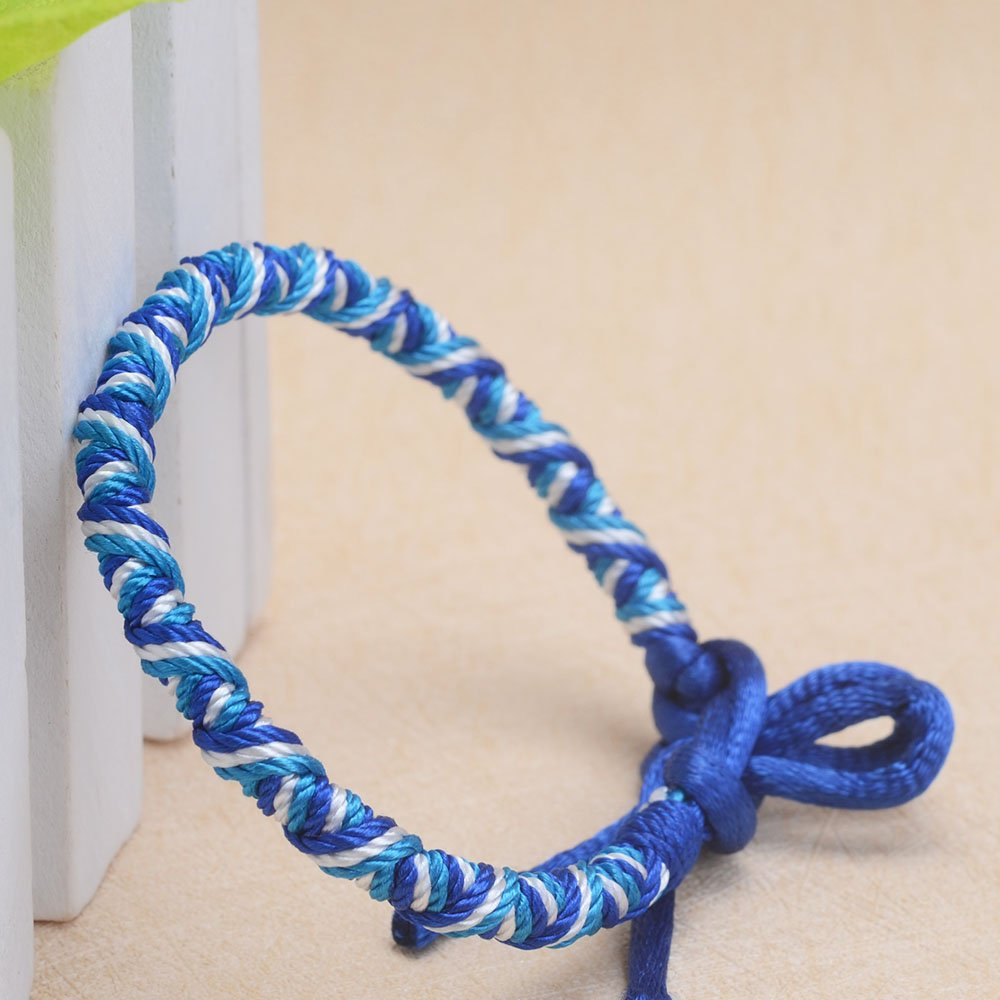 CheersLife Fait Main Tress/é Amiti/é Bracelet 6 Pcs pour Hommes Femmes Color/é Tiss/é Poignets Cheville R/églable