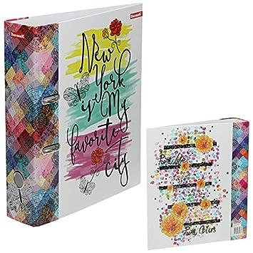 Order DIN A4 laminado, 75 mm, New York My Favorite City - Archivador Carpeta de papel carta carpeta escolar carpeta: Amazon.es: Oficina y papelería