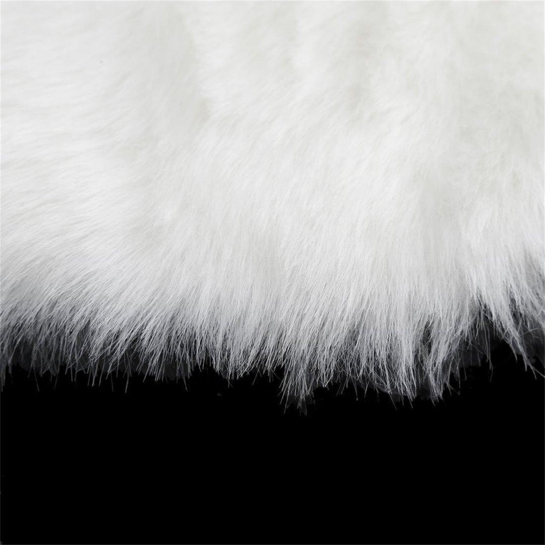 Dailyinshop Super Soft Faux Copridivano copridivano caldo peloso Tappeto Sedile Pad Fluffy Rugs (Colore: bianco)