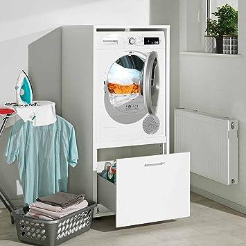 Waschmaschinenschrank Melamin Größe S B/H/T 67x146x65 cm ...