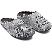 Slippers Wake Up Gris Zapatillas de Estar por casa Mujer Invierno Otoño