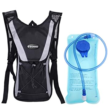 monvecle sistema de hidratación agua mochila mochila vejiga bolsa bicicleta/senderismo escalada bolsa + 2L hidratación vejiga, Unisex, negro: Amazon.es: ...