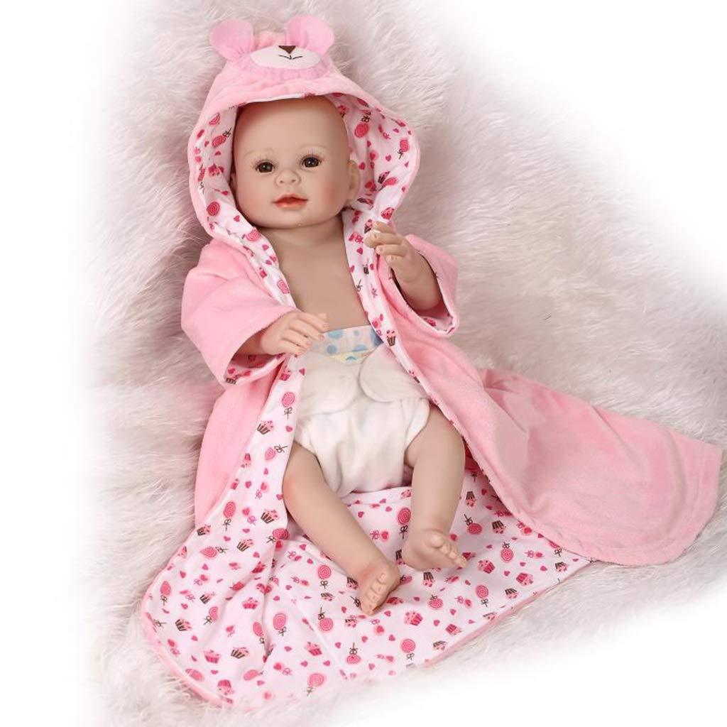 Lsrryd Muñecos Bebé Recién Nacido Niña Realista Asi Que Verdaderamente Natural Renacido Vinilo Muñeca Ponderado Cuerpo (Tamaño : 50cm)