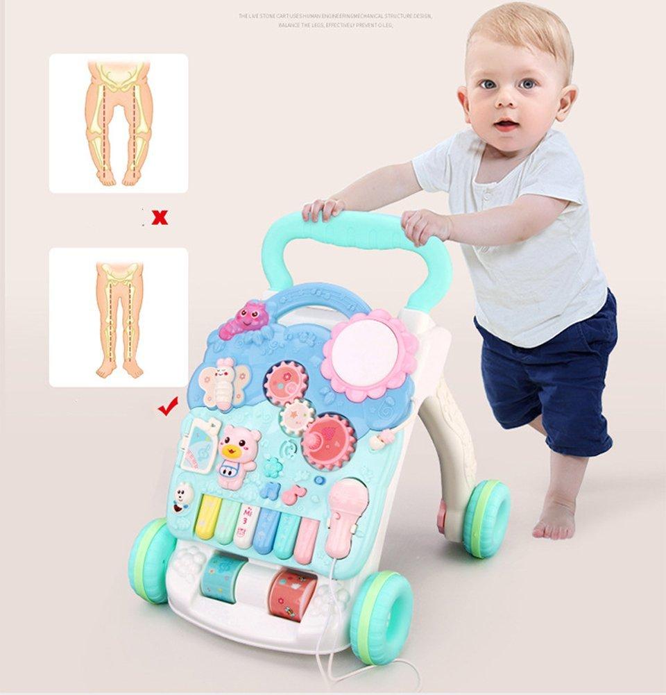 Lauflernwagen Gehhilfe Babys 6-7-18 Monate Walker Zu Rollover-Musik Zu Verhindern Multifunktions 1 Jahr Alt Baby Spielzeug GHY