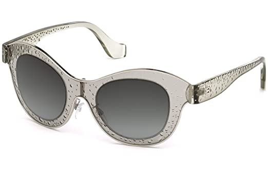 Amazon.com  Balenciaga BA0054 20B Clear Grey Cat Eye Sunglasses for ... dd36167c82e9