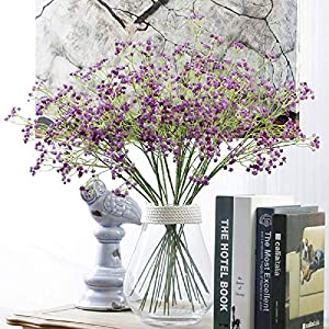 80 Mini Heads 1PC DIY Artificial Baby's Breath Flower Gypsophila Fake Silicone Plant for Wedding Home Party Decorations 8 Colors 29