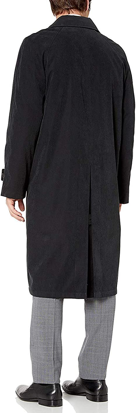 Adam Baker Mens Single Breasted Full Length Belted Trench Coat All Year Round Raincoat