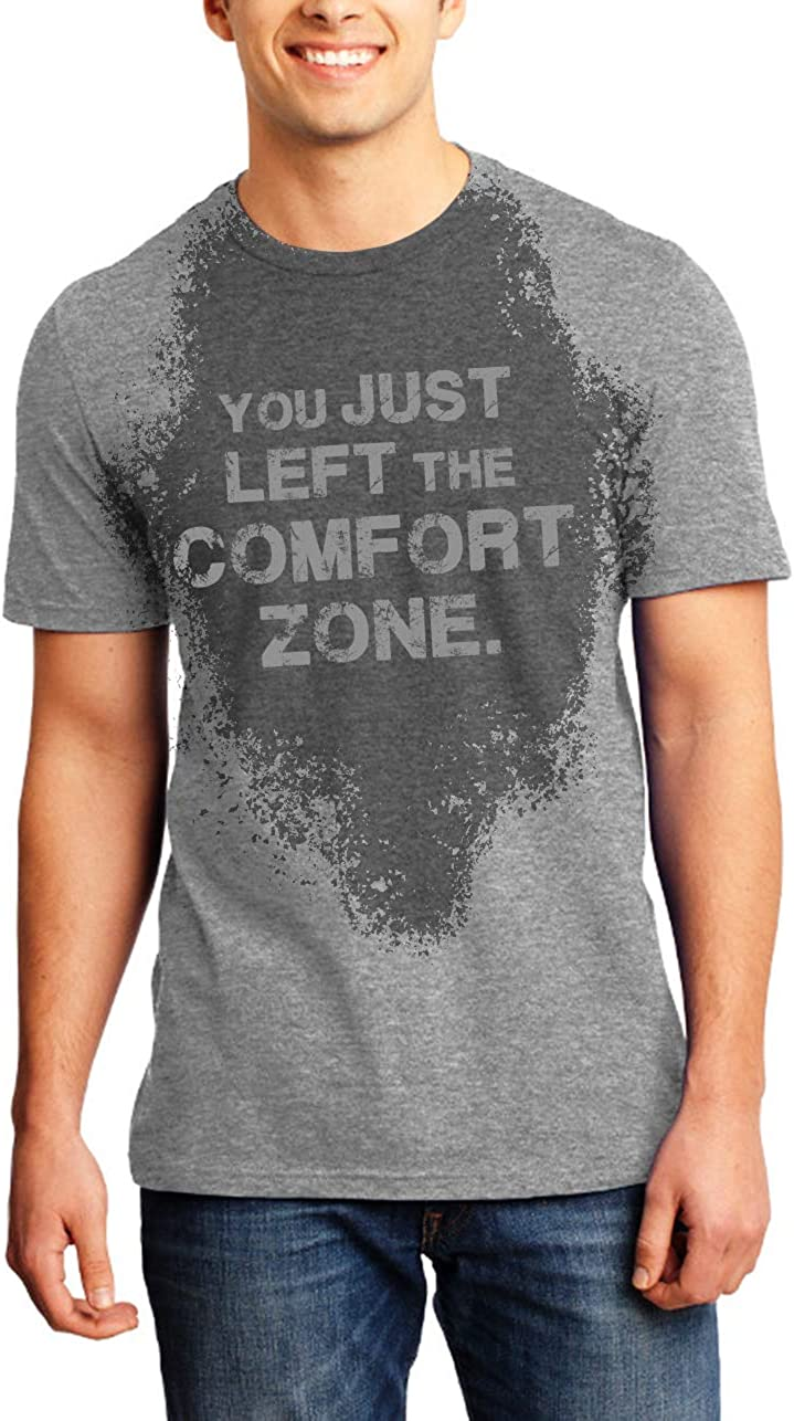 Sweat Activated T-Shirt Fitness Gift for Gym with Motivational Hidden Message Comfort Zone for Men Gray X-Large