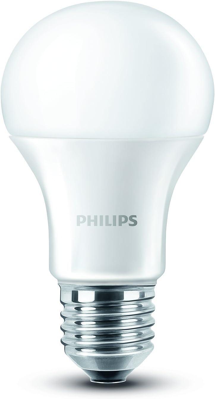 Philips - Pack de 2 bombillas LED, luz blanca cálida, 9W/60W ...