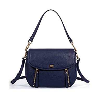 ecb143f5bc67 MICHAEL by Michael Kors Evie Admiral Leather Medium Shoulder Flap Bag one  size Admiral
