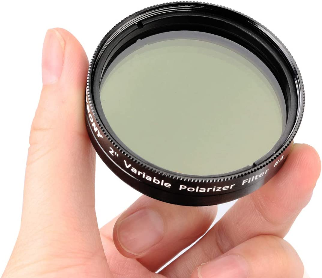 SVBONY SV128 Polarizing Filter for Astronomic Telescope Eyepiece 2 inches Variable Polarizer Lens Filter for Viewing The Moon and Planets