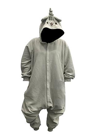 7859e1727bb2 Amazon.com  Pusheenicorn Unisex Kigurumi Standard Gray  Clothing